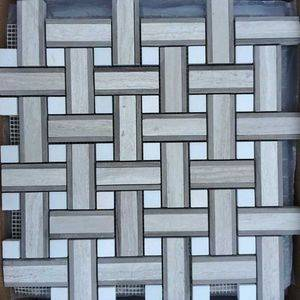 Decussation Marble Mosaic Tiles/Sheet Supplier/Exporter