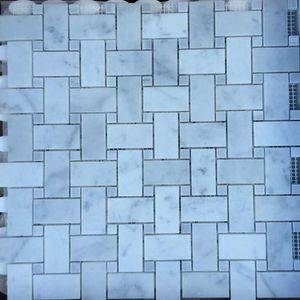 Italy White Marble Mosaic Tiles/Sheet Supplier/Exporter