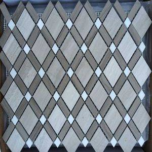 Rhombus Marble Mosaic Tiles/Sheet Supplier/Exporter