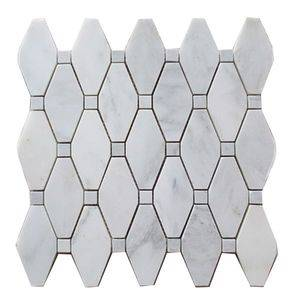 Cream White Marble Mosaic Tile
