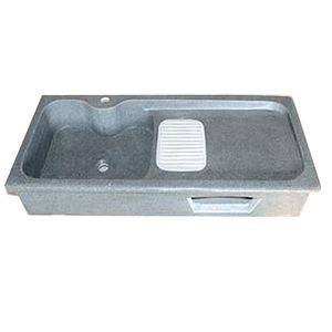 Rectangle Grey G654 Granite Sink