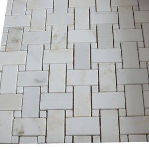 Cross White Marble Mosaic Tile