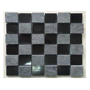 Polish+Flamed Basalt Mosaic Sheet