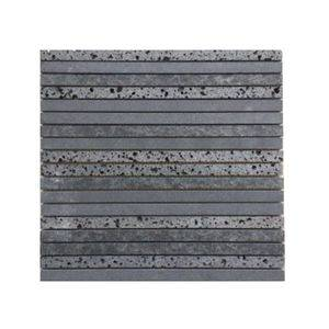 Rectangle Grey Basalt Mosaic Facade