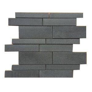 Polished Grey Andesite Basalt Mosaic