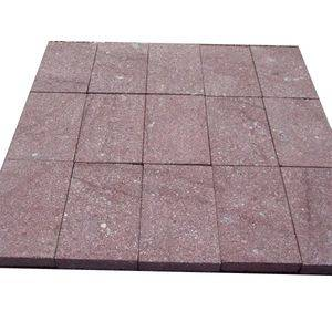 Flamed Red Porfido Stone Tile
