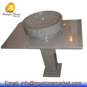 Kitchen Pedestal Granite Stone Sink