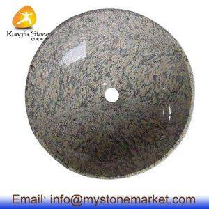 Tiger Skin Yellow Granite Stone Sink